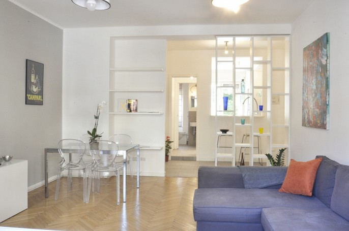 Brera Rent: Renovated two bedrooms flat next to Arco della Pace