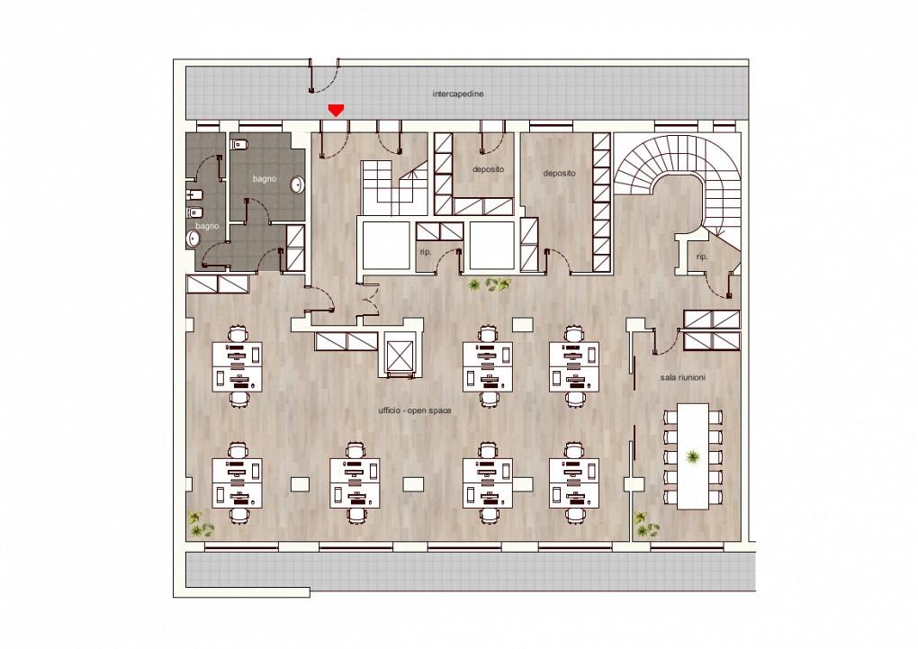 Office Rent Milan: Basement floor map