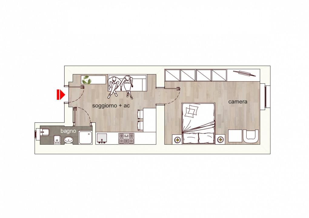 Marangonirent: Newly renovated one bedroom flat in Isola