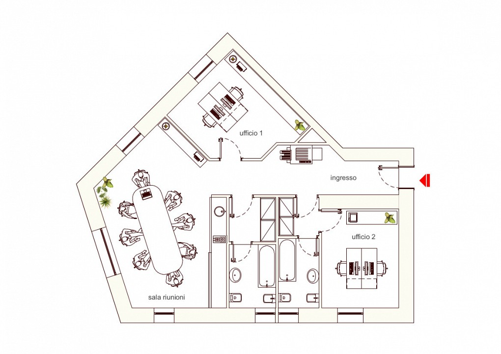 Office Rent Milan: Independent room in shared office