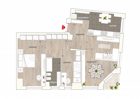 BocconiRent: Large two bedrooms flat with balcony on the Navigli