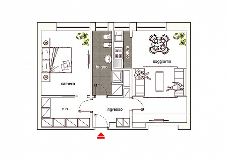 Large One Bedroom Flat few steps from Duomo