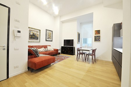 Luxury flat with high ceilings renovated by architect